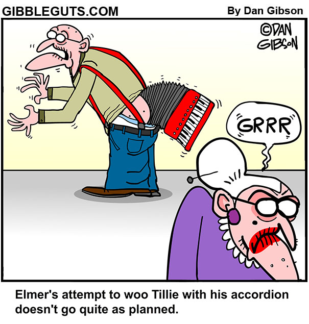 accordion cartoon
