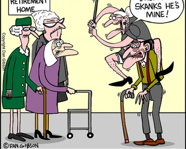 elderly lady cartoon