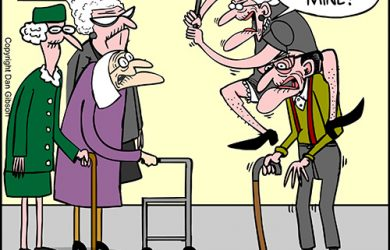 elderly lady cartoon