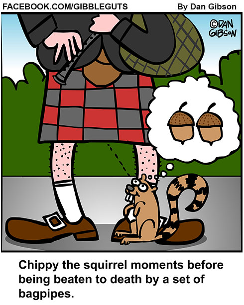 squirrel bagpipes cartoon