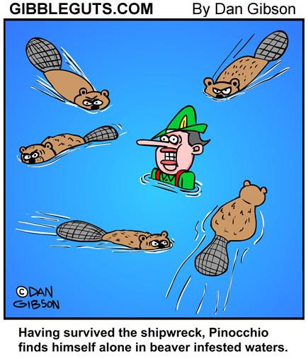 beaver cartoons by Gibbleguts.com