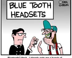 Blue tooth cartoon