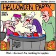 bobbing for apples cartoon