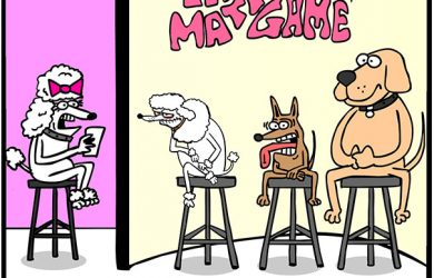 the dating game for dogs cartoon