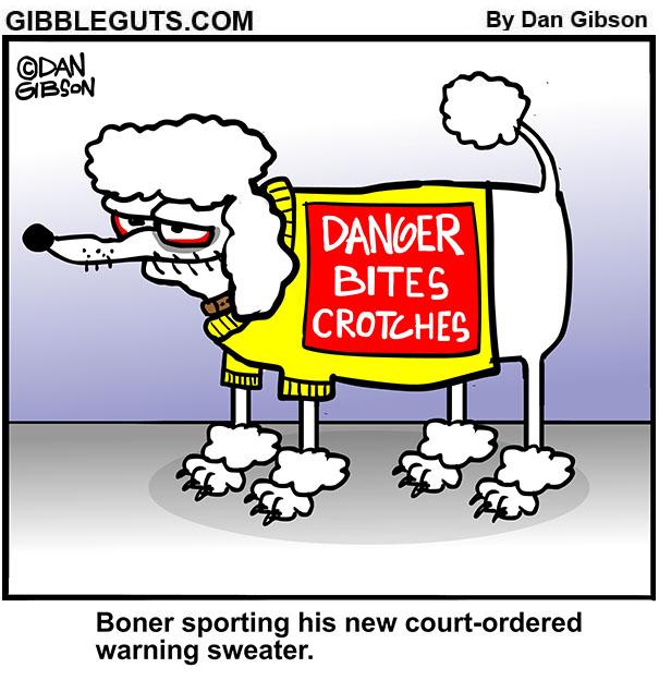 dog warning sweater