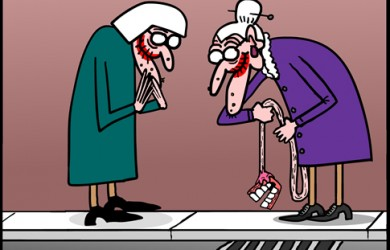 dentures cartoon