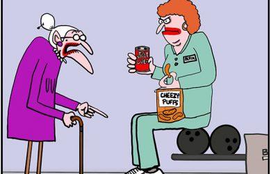 bowling cartoon