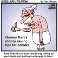 tips for seniors cartoon