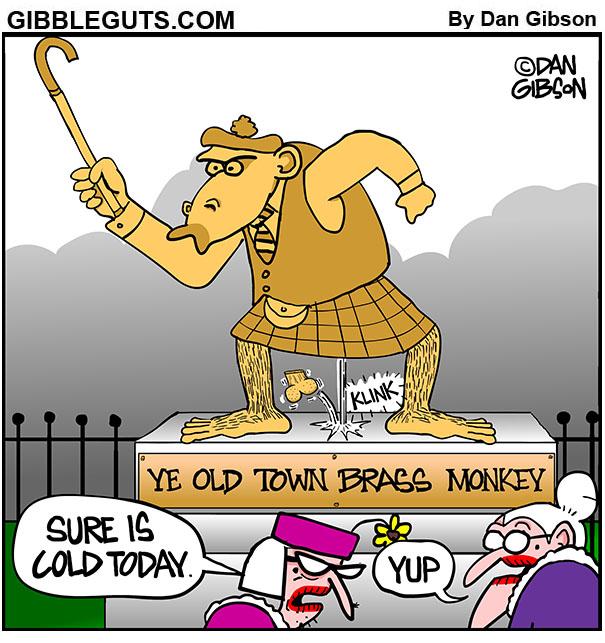 brass monkey cartoon