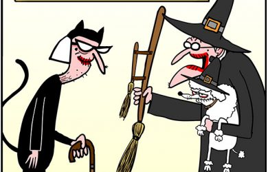 halloween broom cartoon