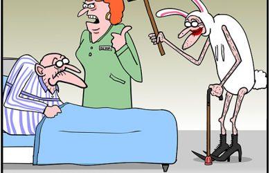 sleeping pills cartoon