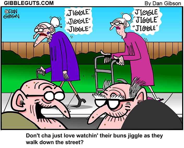 old people with nice buns