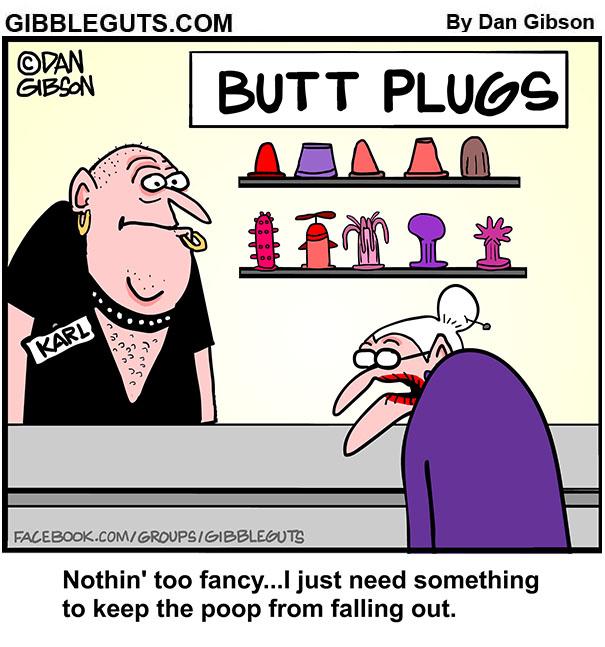 butt plug shopping cartoon