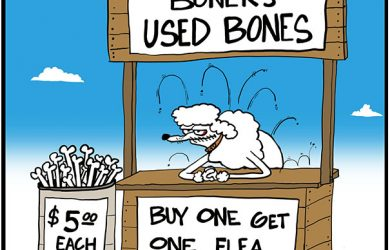 dog bone cartoon