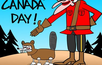 Canada day cartoon