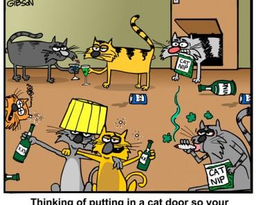 door cartoon