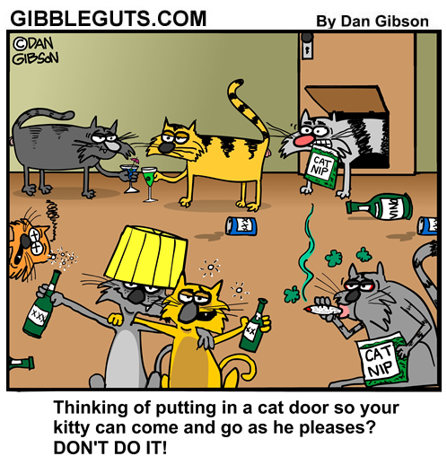 door cartoon