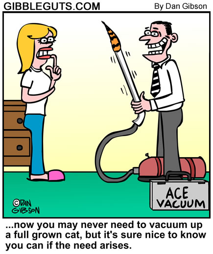 Cat Vacuum cartoon