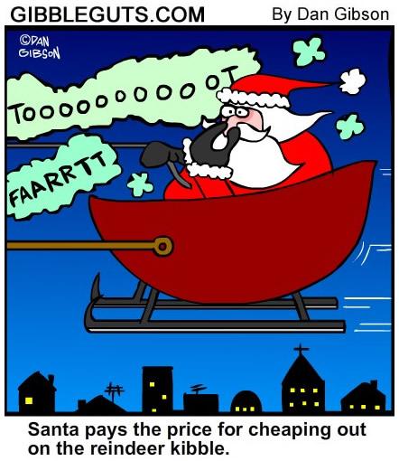 reindeer farting cartoon