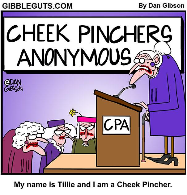 cheek pinching Tillie