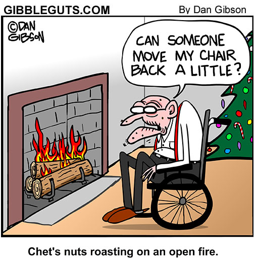 Christmas fire cartoon