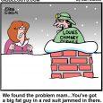 chimney santa clog