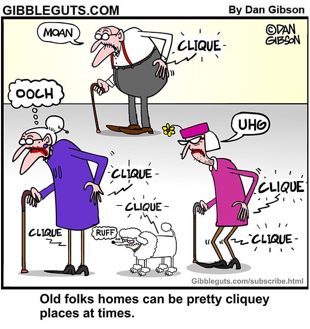 clique cartoon