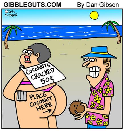 Tourist cartoon from Gibbleguts.com