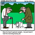 constipated dog cartoon