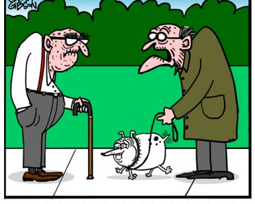 constipated dog cartoon
