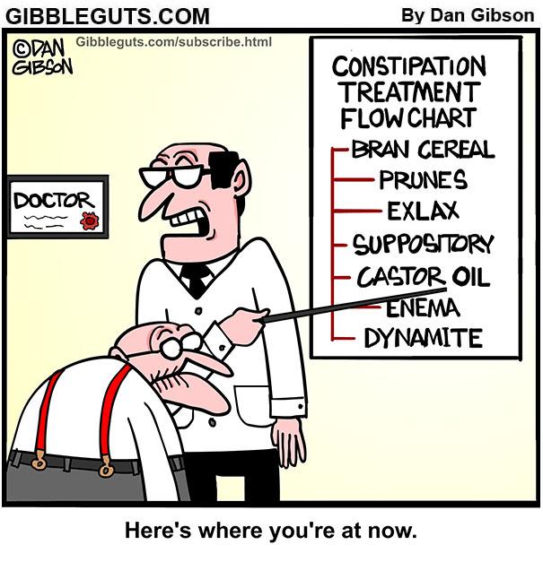 constipation cartoon