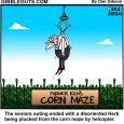 corn maze cartoon