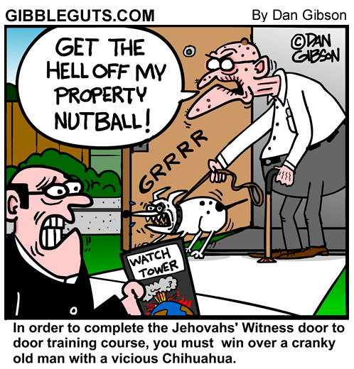 Jehovahs Witness cartoon