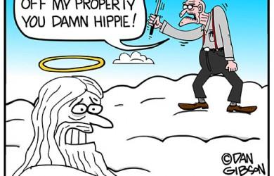 cranky old man in heaven cartoon