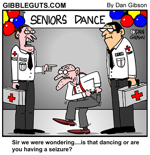seniors dance cartoon