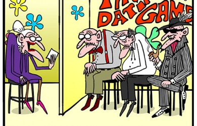 dating game old people cartoon