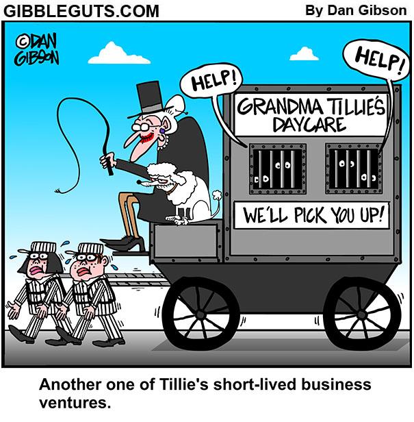 tillie's daycare service cartoon