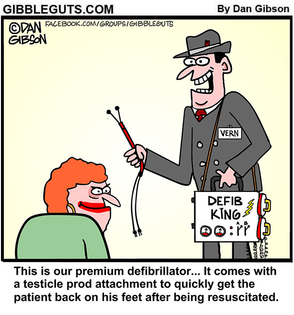 defibrillator cartoon