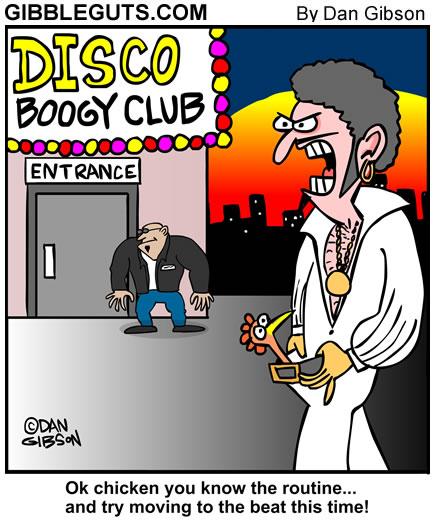 Disco Chicken Gibbleguts cartoon