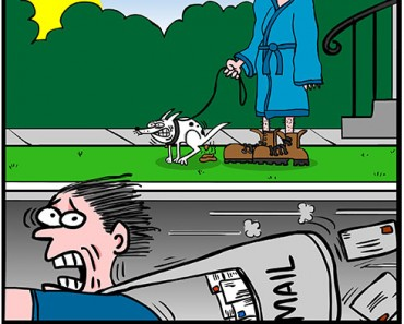 taking the dog out cartoon