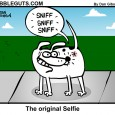 dog selfie cartoon