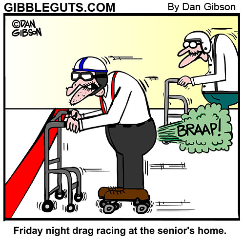 drag racing cartoon