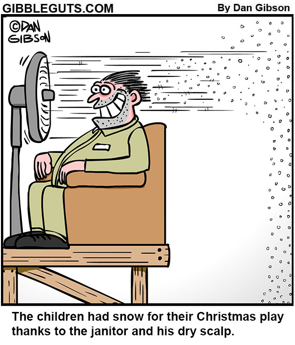 christamas snow cartoon