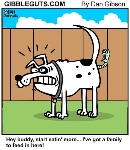 worm cartoon from Gibbleguts.com