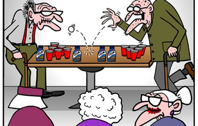 beer pong cartoon