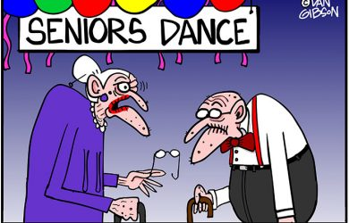 seniors dance cartoon