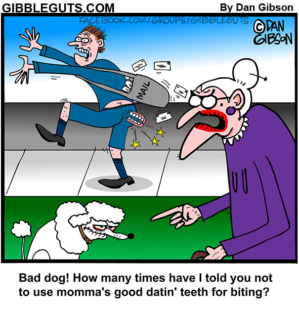 boner bites mailman cartoon