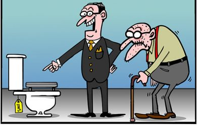 toilet cartoon