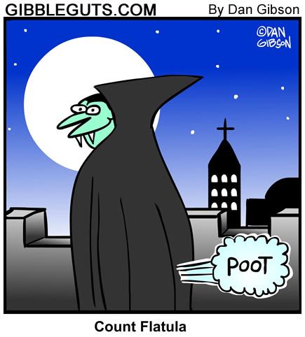 Vampire farting cartoon
