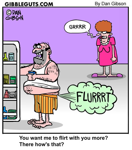Flirten cartoon